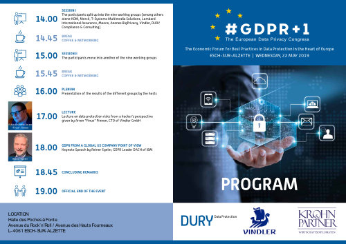 European Data Privacy Congress GDPR 1 22 May 2019 Luxembourg